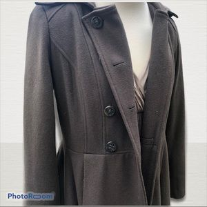 VELVET HEART olive wool button-up coat